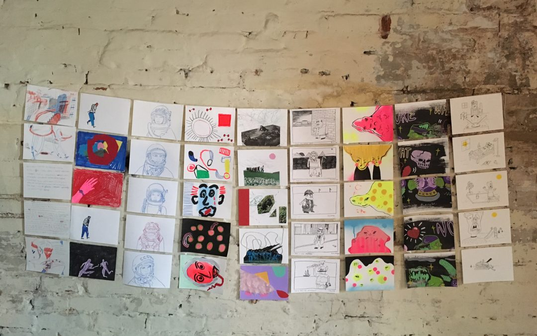 Level 6 Illustration Exhibition at Copper Dollar Studios Brighton
