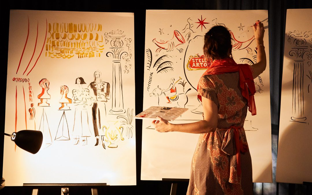 Visiting Lecturer Irene Fuga Live Drawings in Australia