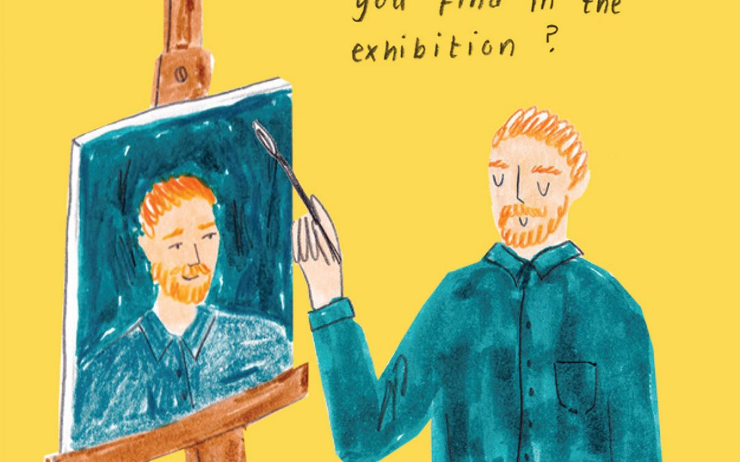 Van Gogh Exhibition Guide Commission for current Illustration Student